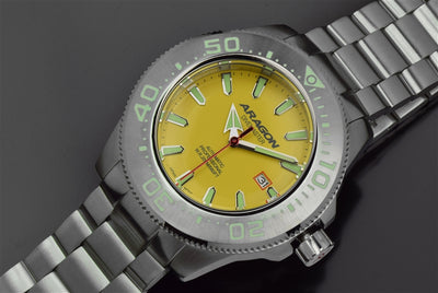 ARAGON Divemaster NH35 Bracelet Watch 50mm A057YEL
