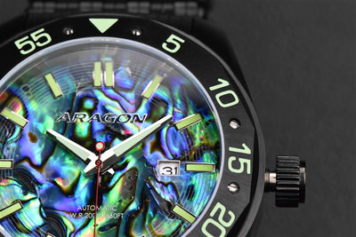 ARAGON Charger Abalone Automatic 50mm A146BLK