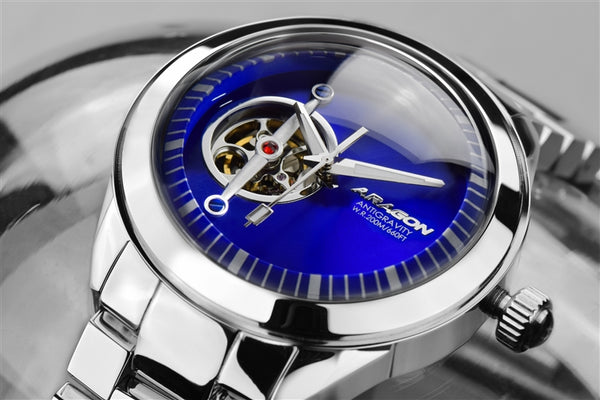ARAGON Antigravity Open Heart 45mm A288BLU
