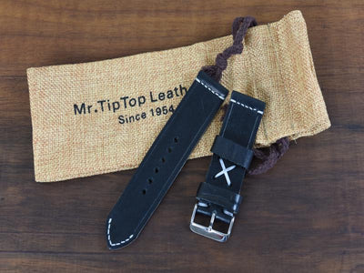 Mr. TipTop Straps Black 24mm MRT008