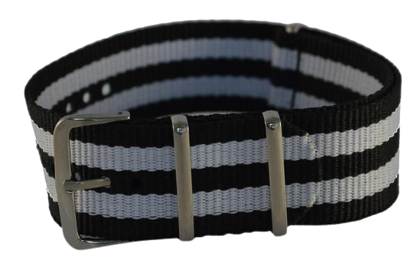 NATO Strap Black and White