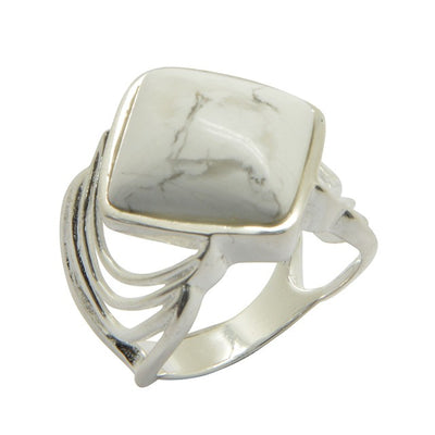 Barse Opening Night Ring-White Howlite