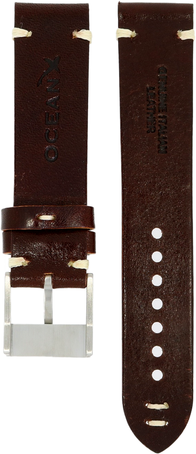 OceanX Sharkmaster 1000 Leather Strap