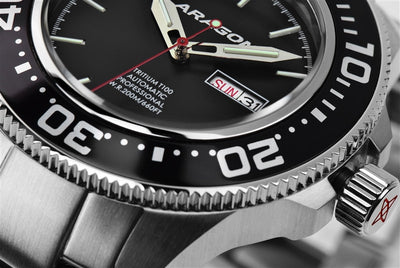 ARAGON Divemaster T100 Automatic 50mm A056BLK