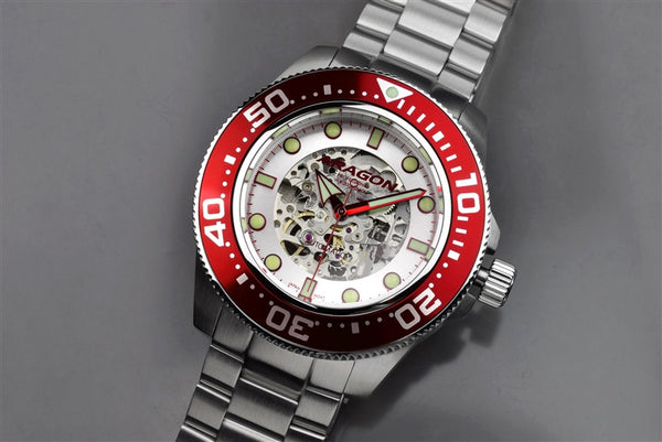 ARAGON Divemaster Skeleton 45mm A062RED