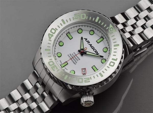 ARAGON Divemaster EVO 45mm Super Luminova Dial A264WHT
