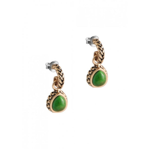 Barse Lime Turquoise Roped Charm Earring