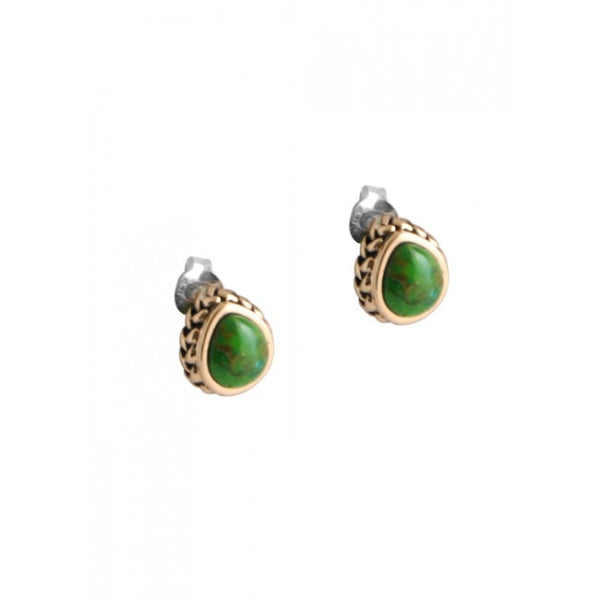 Barse Lime Turquoise Teardrop Post Earring