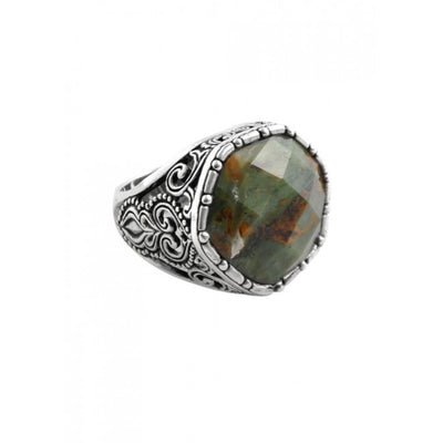Barse Faceted Green Opal Ring