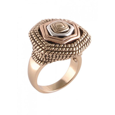 Barse Tri-Metal Abstract Ring