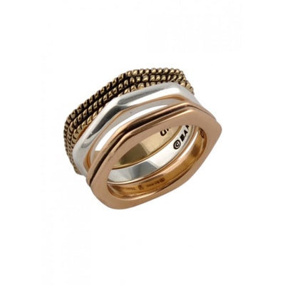 Barse Copper, Bronze and Sterling Stack Ring