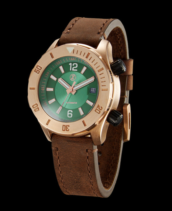 Zelos Abyss Green Dial