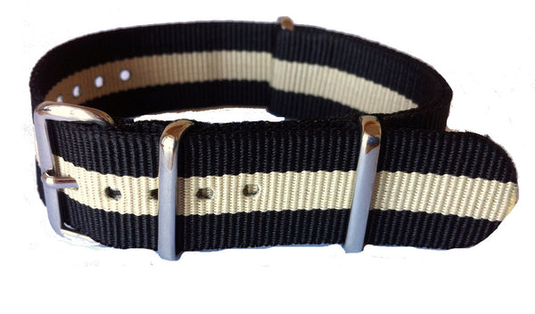 NATO Strap Black and Beige