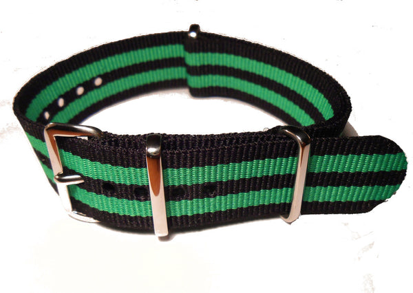 NATO Strap Black and Green