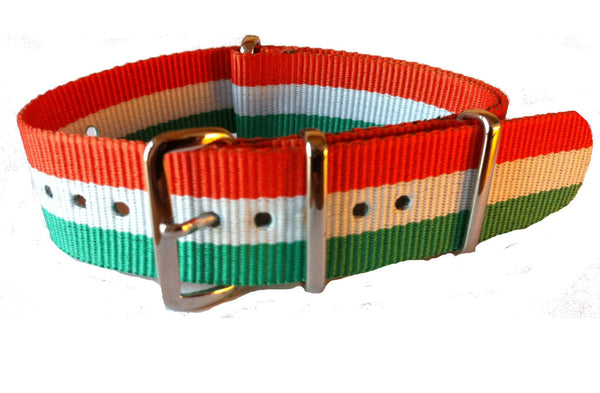 NATO Strap Green, White and Orange