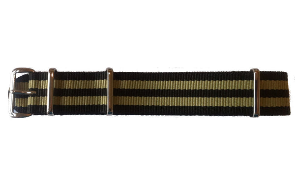 NATO Strap Black and Gold
