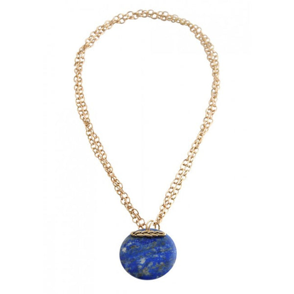 Barse Convertible Natural Stone Necklace-Lapis