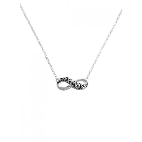 Barse Infinity Necklace-Sterling Silver