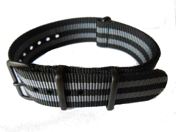 NATO PVD Strap Black and Grey