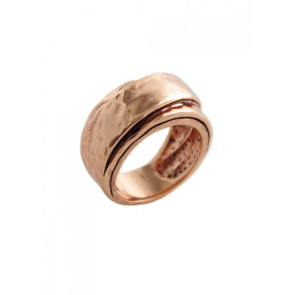 Barse Hammered Copper Wrap Ring