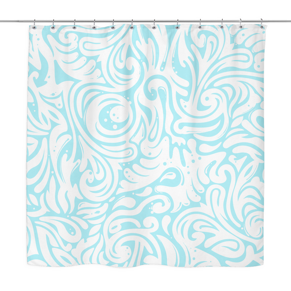 Modern Baby Blue Shower Curtain – Enonande
