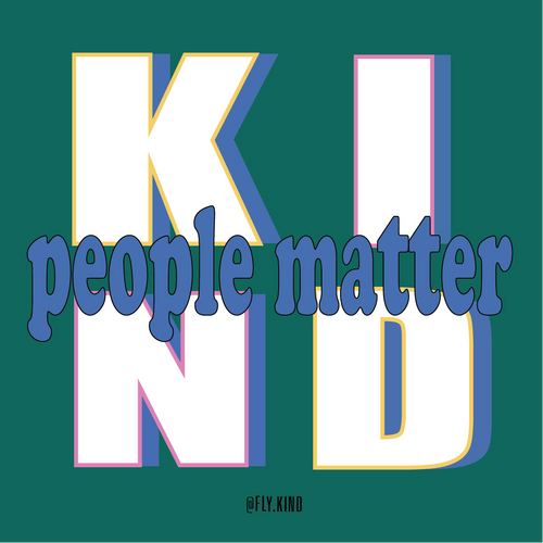 KIND PEOPLE MATTER STICKER