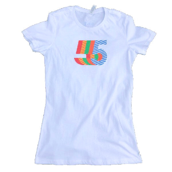 5th Anniversary T-Shirt  | Women's White