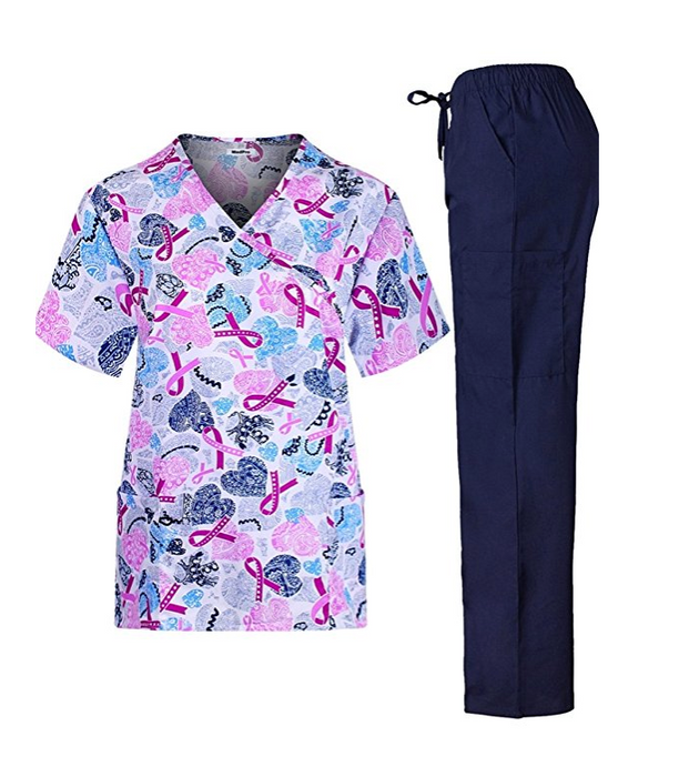 Women's Patterned Scrub Set by MedPro