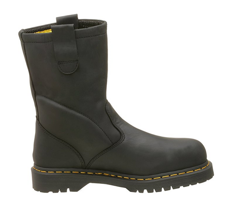 Men's Tall Black Leather Steel Toe Work Boot by Dr. Martens