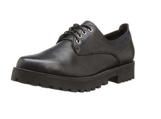 Black Leather Oxford Waitress Shoes for Women by Steve Madden