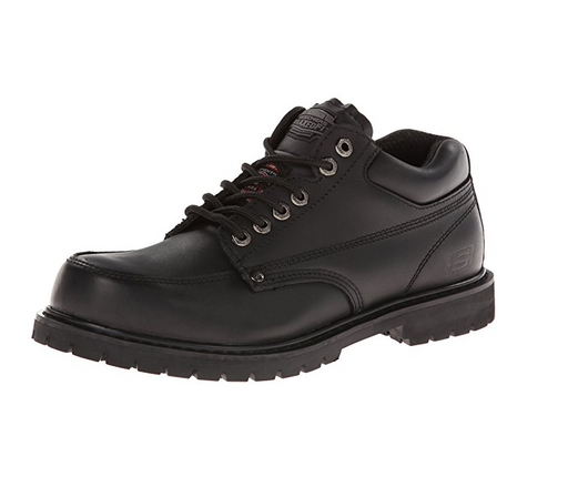 Black Leather Oxford Waiter Shoes for Men by Skechers - Cottonwood
