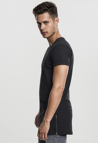 Long Shaped Side Zip Tee