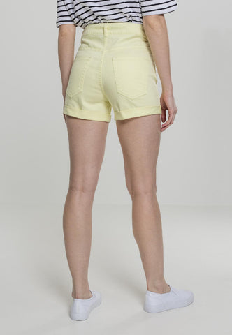 Ladies Highwaist Stretch Twill Shorts