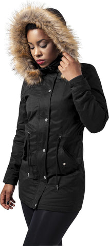 Ladies Sherpa Lined Peached Parka