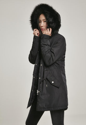 Ladies Faux Fur Parka
