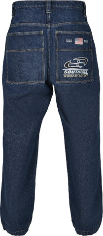 Southpole Logo Branded Baggy Jeans