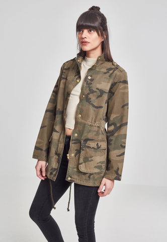 Ladies Camo Cotton Parka