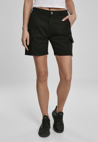 Ladies High Waist Cargo Shorts