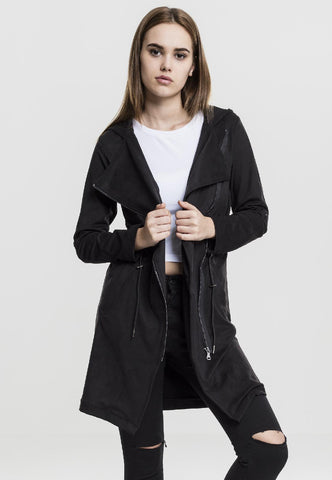 Ladies Imitation Suede Parka