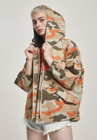 Ladies Oversized Camo Parka Jacket