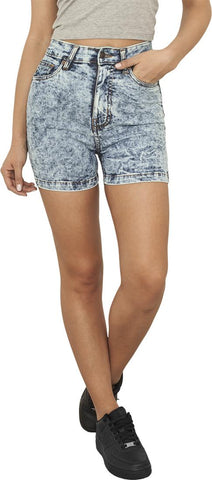 Ladies High Waist Denim Skinny Shorts