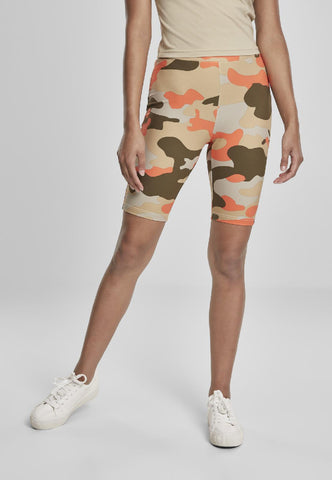 Ladies High Waist Camo Tech Cycle Shorts