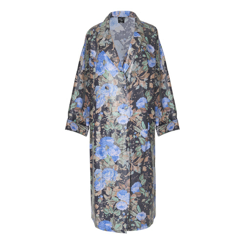 Bingo Blue Trench Raincoat - BOO PALA LONDON