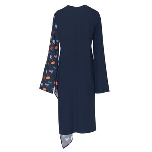 Asymmetric Blues Dress - BOO PALA LONDON