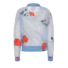 Load image into Gallery viewer, Rose Raincoat Bomber Jacket - BOO PALA LONDON
