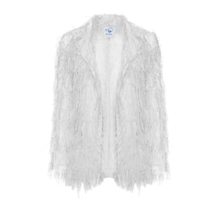 White Ribbon Blazer Jacket - BOO PALA LONDON