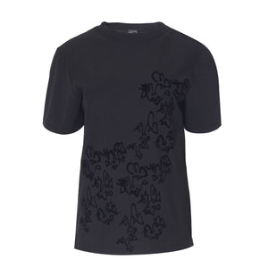 Black Doodle T-Shirt - BOO PALA LONDON