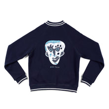 Load image into Gallery viewer, JANE DOE SWEATSHIRT WITH RAINBOW ZIPPER - NAVY - BOO PALA LONDON