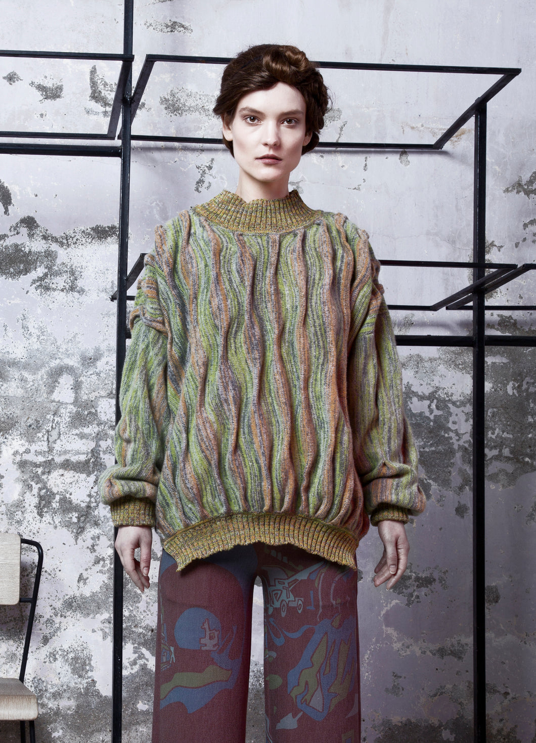 Soil Shades Oversized Wool Sweater - BOO PALA LONDON