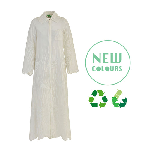 Recycled Alanis Kaftan - White
